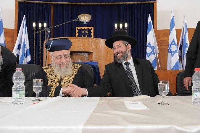תמונה משותפת הרבנים הראשיים בית הכנסת ישורון_o